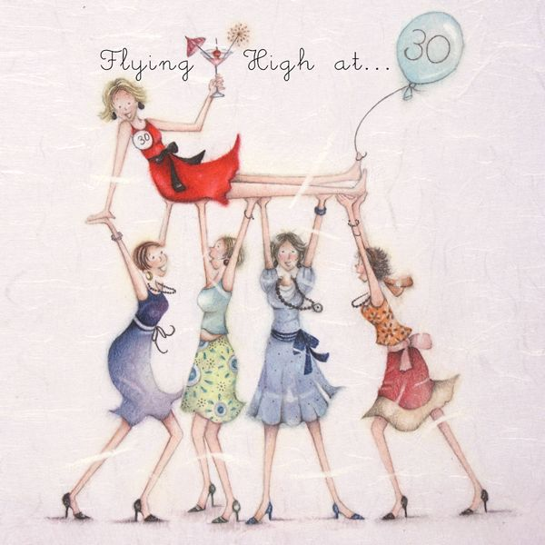 A Happy 30th Birthday Card For A Lady Flying High At 30