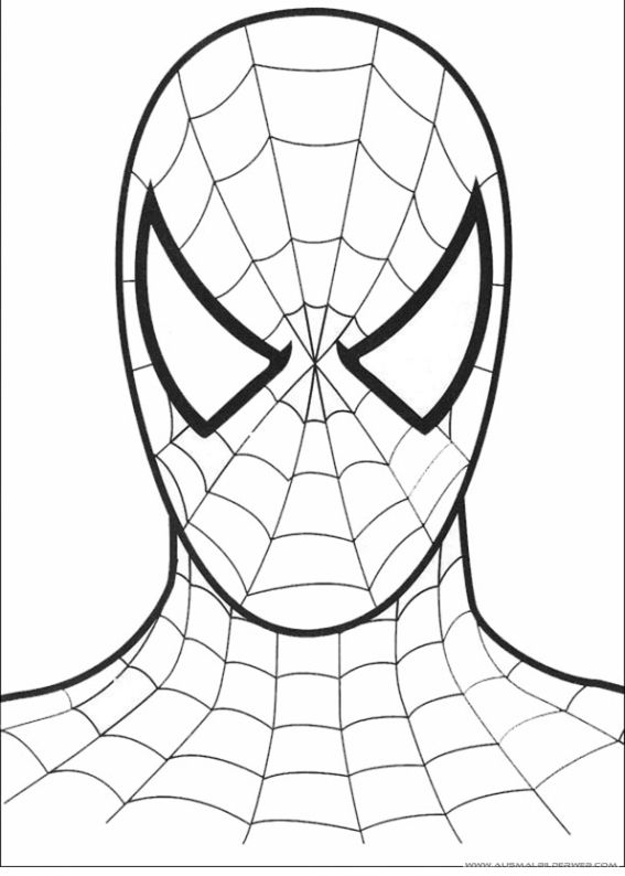 Ausmalbilder Spiderman 39 Jpg Ausmalbilder Fur Kinder Spiderman Coloring Spiderman Face Free Coloring Pages