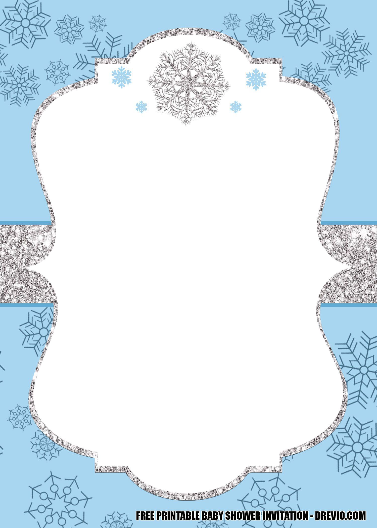 Free Winter Wonderland Baby Shower Invitation Templates Editable Winter Wonderland Baby Shower Baby Shower Invitation Templates Baby Shower Invitations