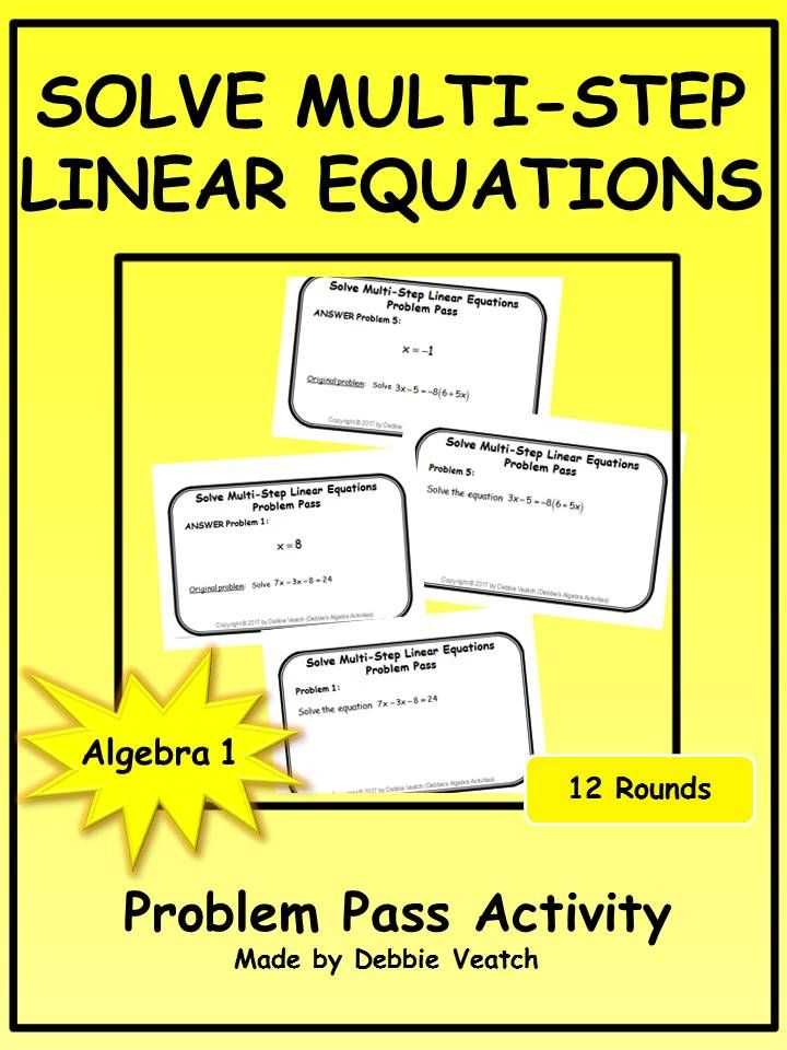 solving linear equations problems