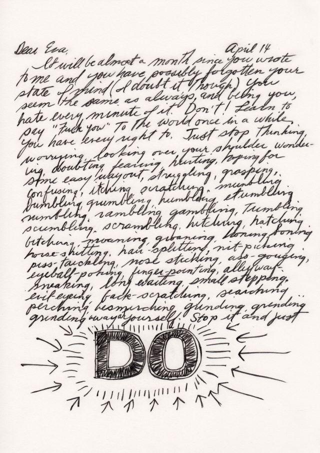 letter from Sol LeWitt to Eva Hesse | text / books | Eva hesse