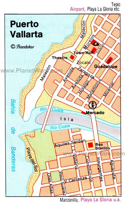 Puerto Vallarta Mexico Map Pinterest: Gay Puerto Vallarta Map At Infoasik.co