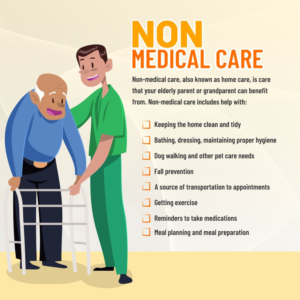 Non Medical Care Nonmedicalcare Homecare Home Care Agency Nursing Care Medical Care