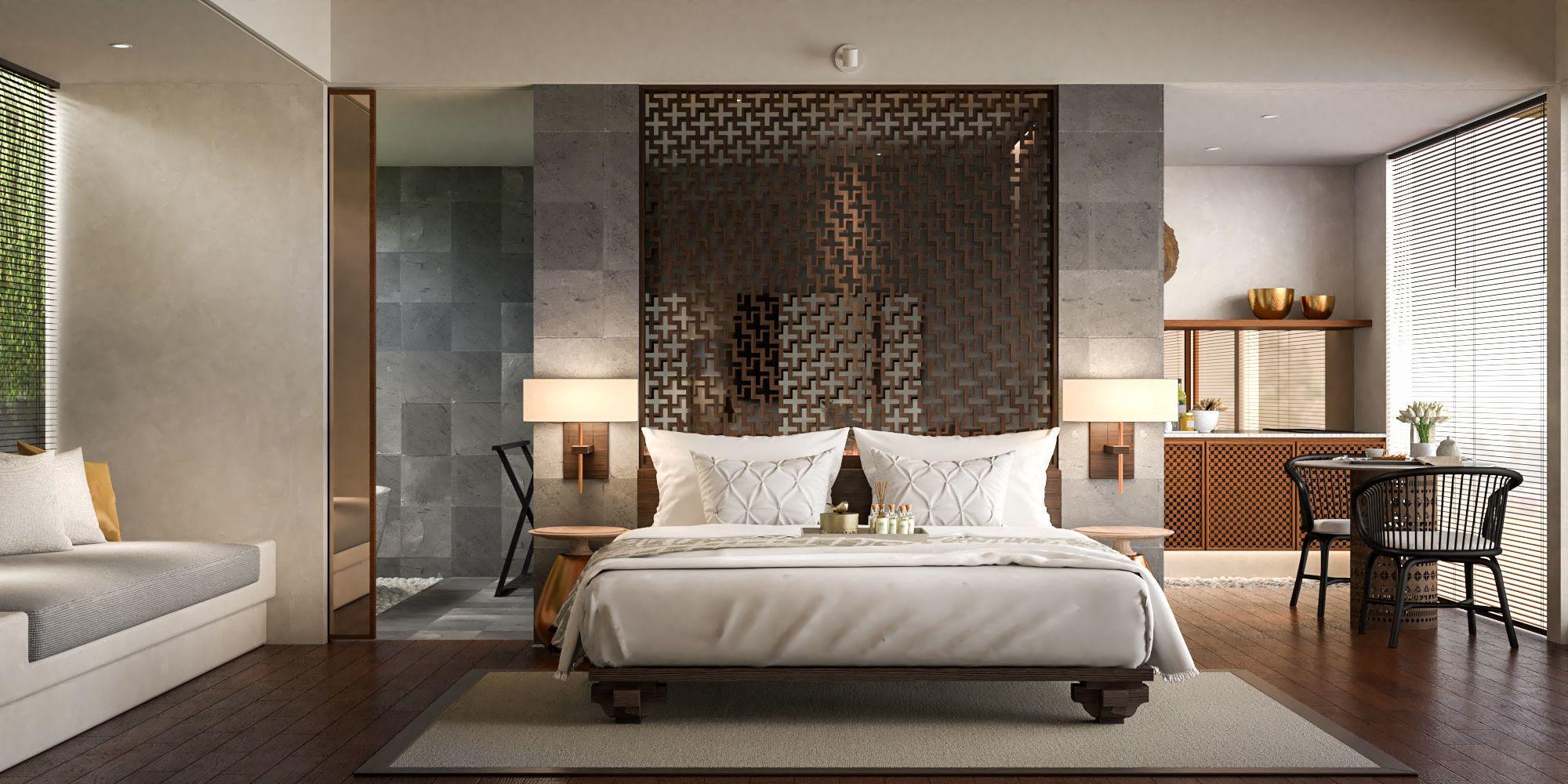 Interior Scene Hotel Villas Sketchup Vray 3D model