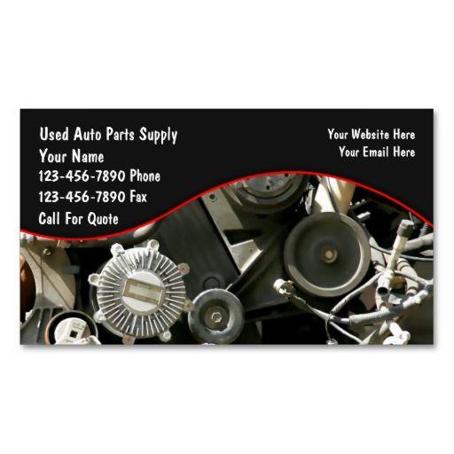 Auto Parts Salvage Business Cards Zazzle Com In 2021 Business Cards Customizable Business Cards Auto Parts