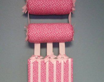 Headband Holder or head band holder hairbow organizer board Pink Unicorns Handmade combination holder