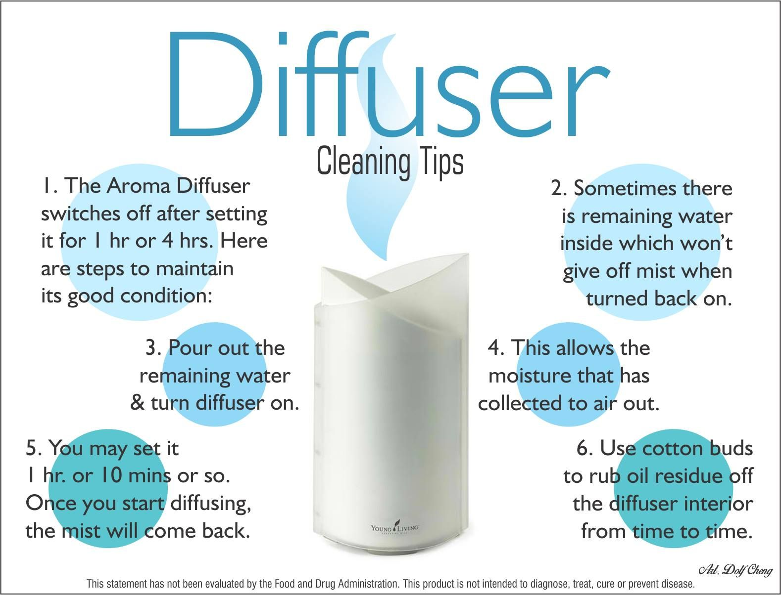 How To Clean Your Aroma Diffuser By Young Living Please
