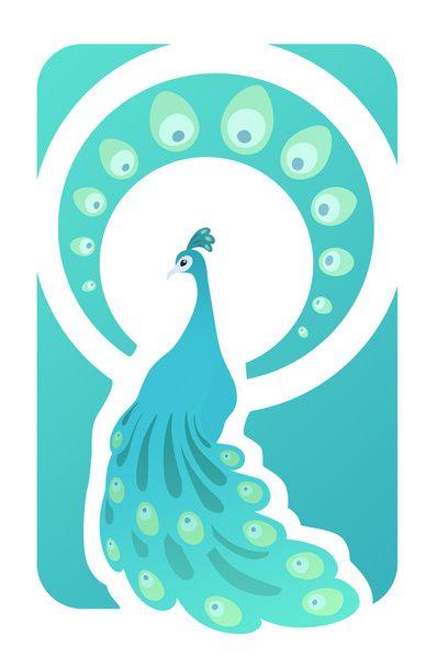 Paon bleu Art Print