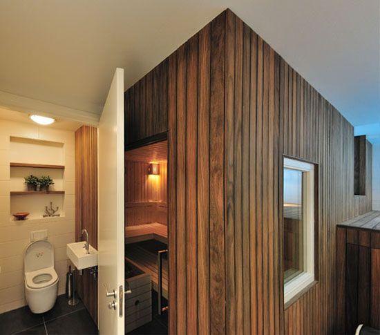 badkamer met sauna | Ideeën voor het huis | Pinterest