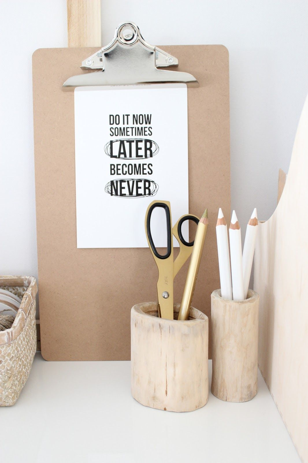 [ CLIPBOARD + QUOTE ] #office #officeinspiration