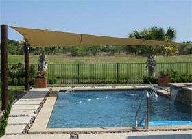 Permanent Shade Structures For Swimming Pools Shade Structure Pool Shade Shade Sail