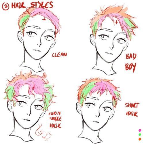 short hair guy drawing