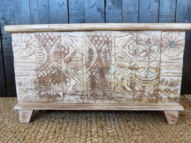 Carved blanket box indian miscellaneous pinterest