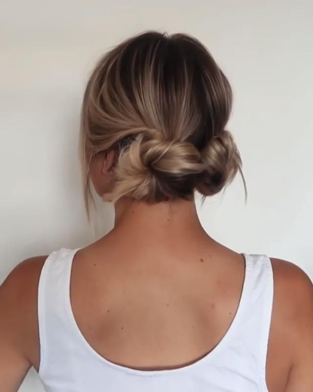 10+ Pretty Easy DIY Low Bun Hairstyles - ChicHairstylestrendy