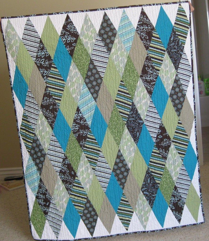 Baby Quilt Squares And Triangles Baby Boy Quilts Baby Quilts Quilts