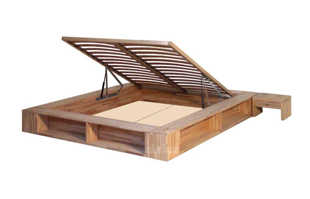 Letto contenitore matrimoniale tatami in legno LIBROLETTO by Cinius ...