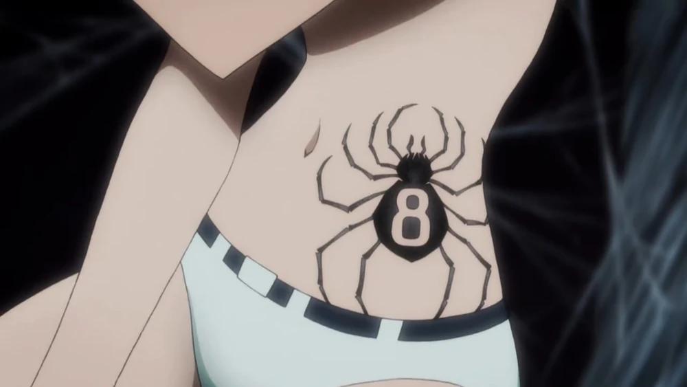 Shizuku Murasaki Hunterpedia Fandom Spider Tattoo Hunter Tattoo Anime Tattoos