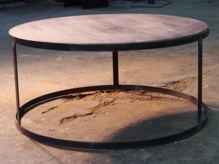 Mesa de centro redonda de hierro y madera monras mesas de centro en hierro y madera - Mesa centro madera y hierro ...