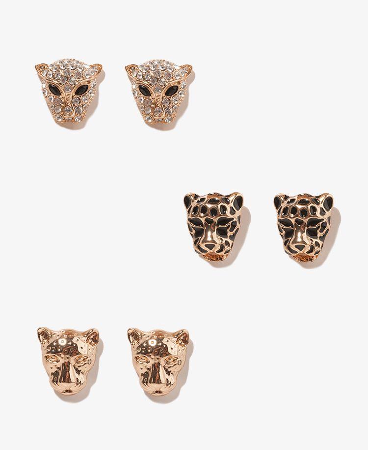 Wild Cheetah Stud Set | FOREVER21 - 1000043493