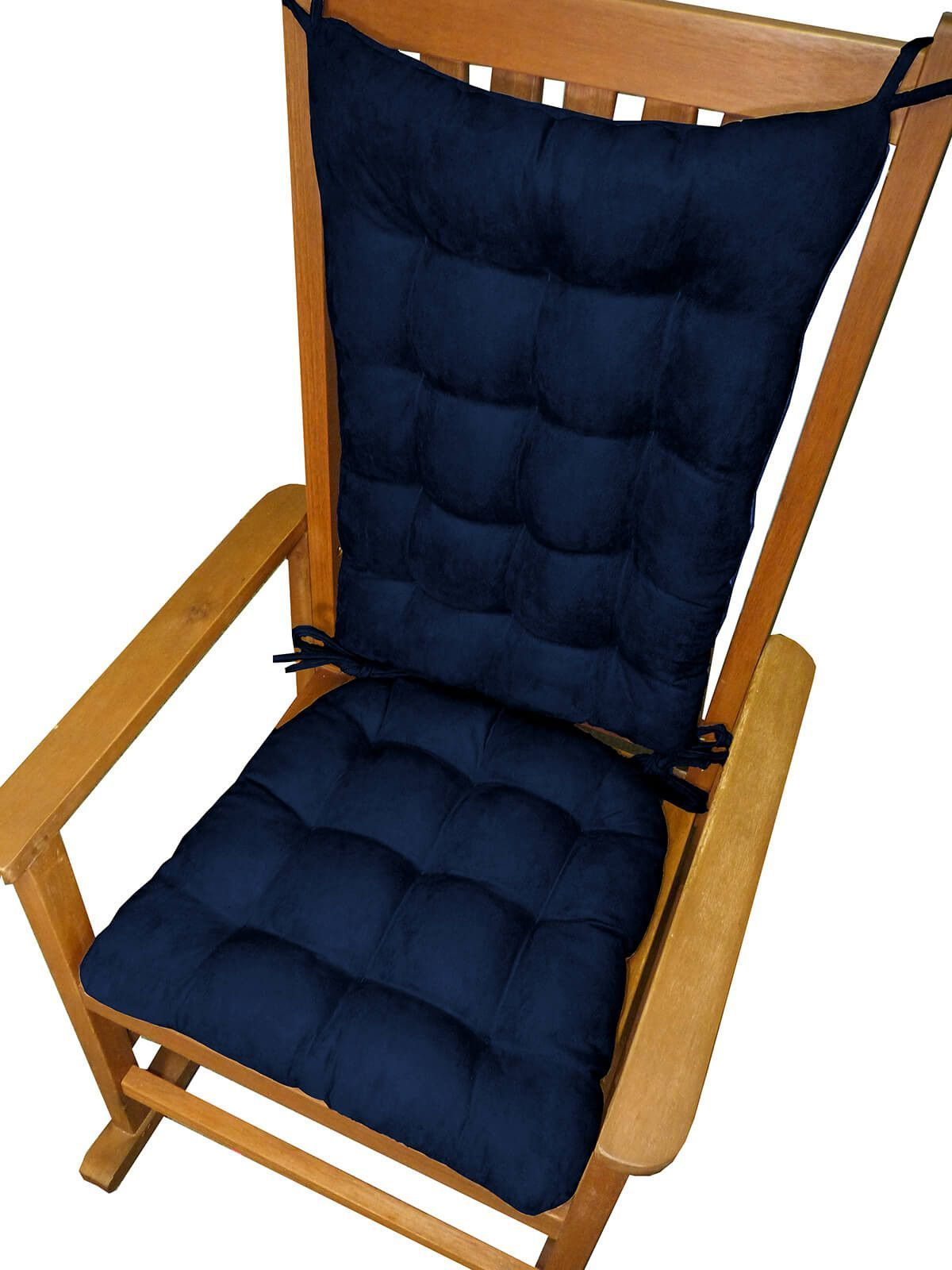 Phenomenal Micro Suede Royal Blue Rocking Chair Cushions Latex Foam Cjindustries Chair Design For Home Cjindustriesco