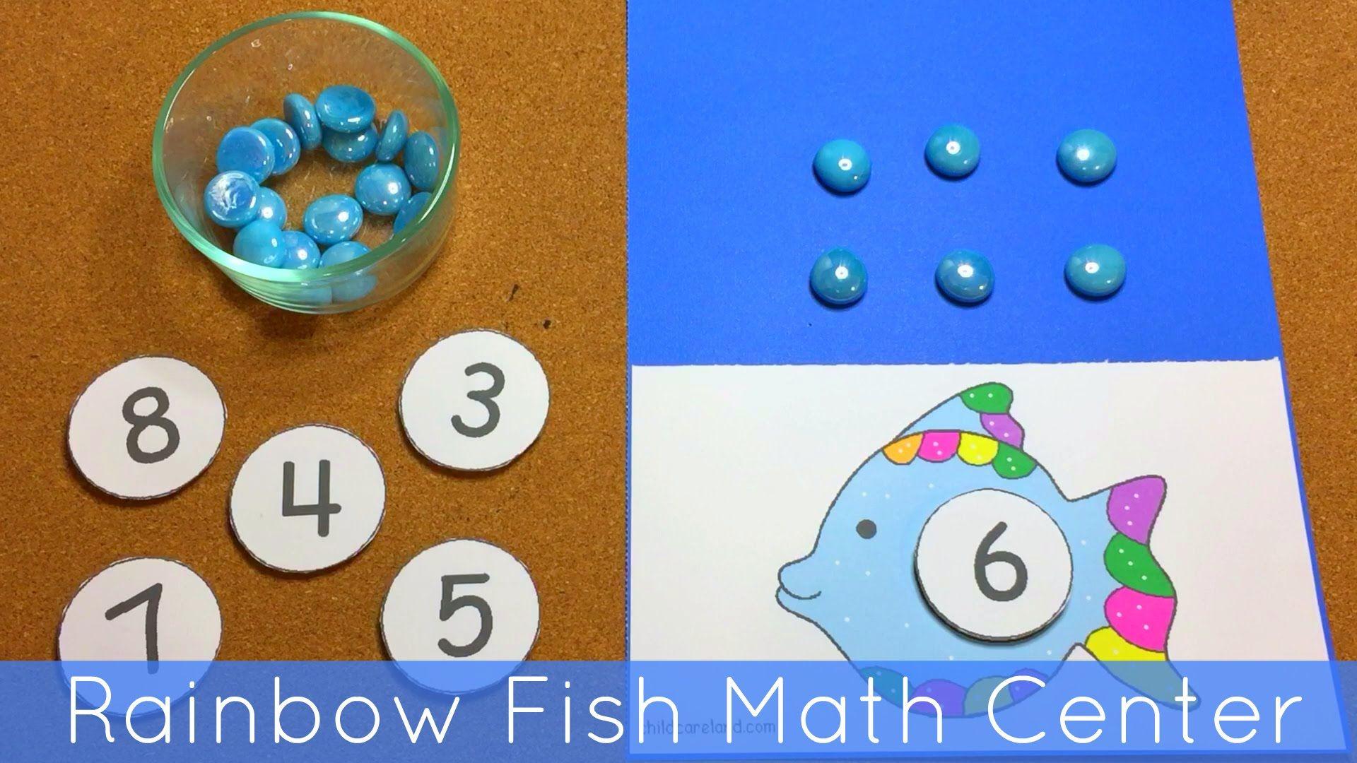 Rainbow Fish Math Center For Preschool And Kindergarten