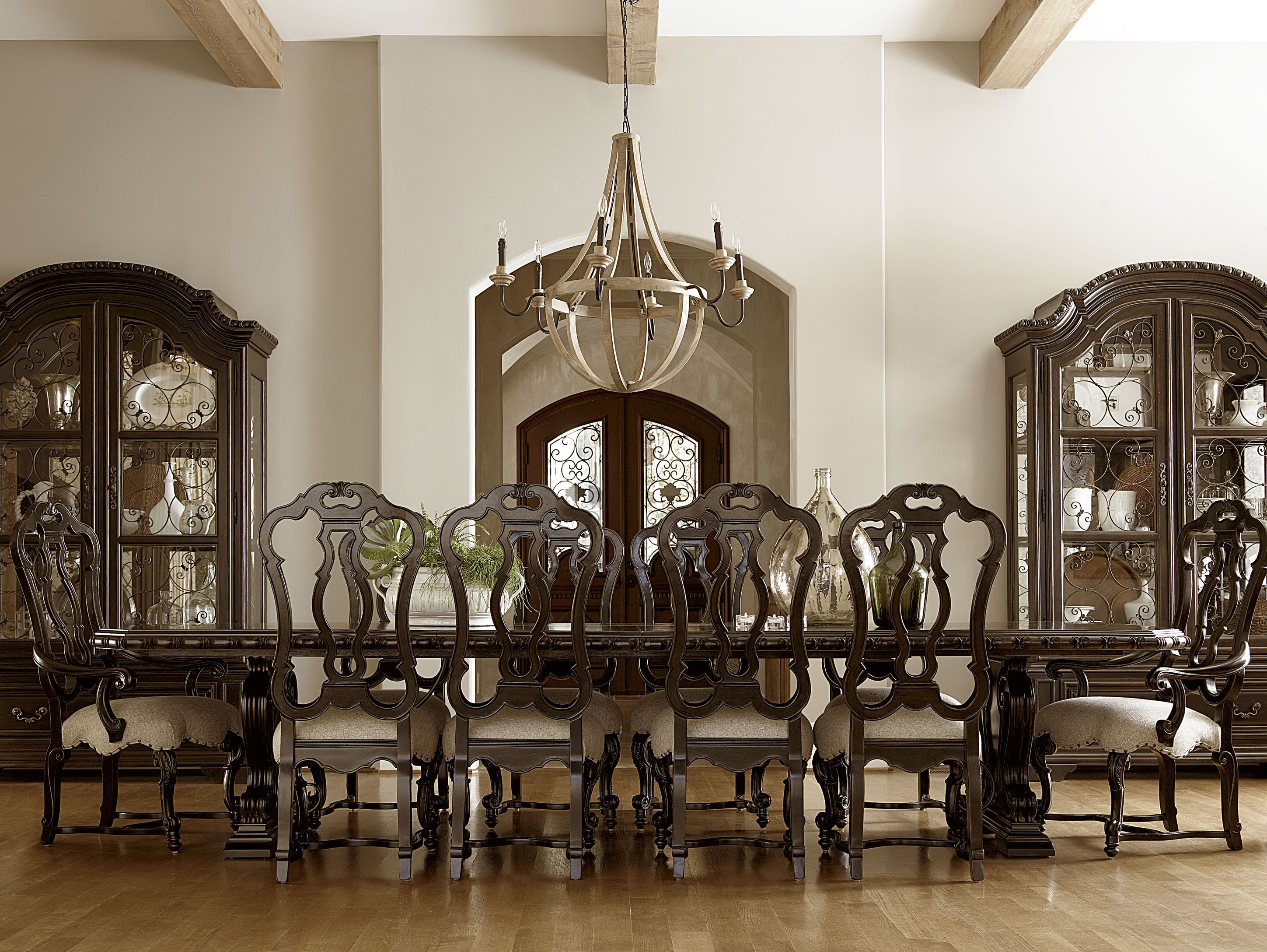 11 Piece Dining Room Set Upholstered Arm Chair Display Cabinets And Like U On Pinterest