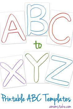 Free abc printable templates alphabets pinterest abc printable free abc printable letter templates for preschool or learning activities at home plus lots of ideas for how to use them ibookread ePUb