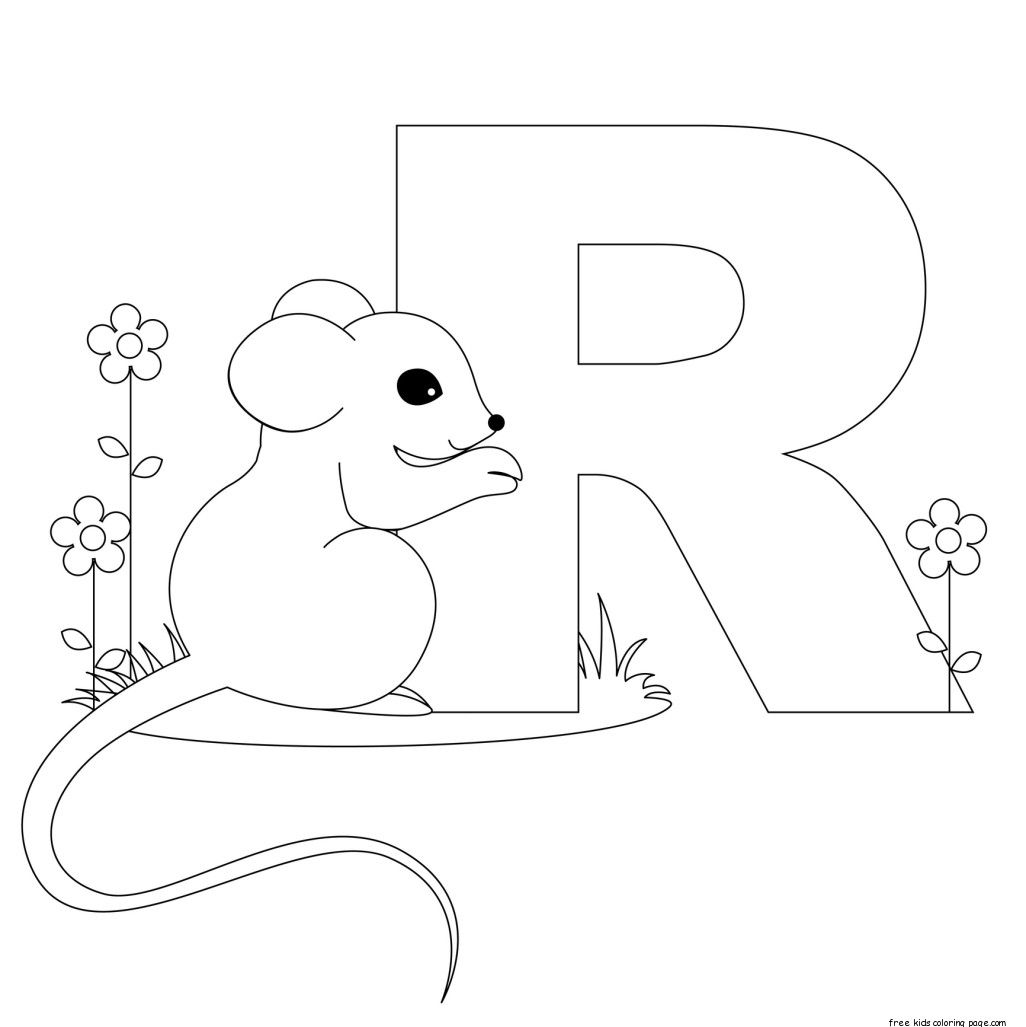 Printable Animal Alphabet Letter R Is For Rat  LettersSounds
