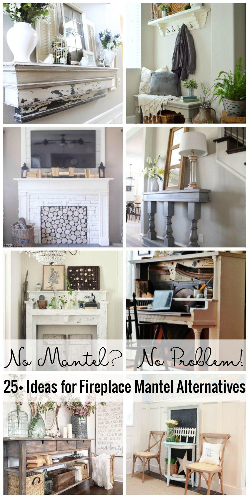 No Mantel No Problem! 25+ Ideas For Fireplace Mantel Alternatives ...