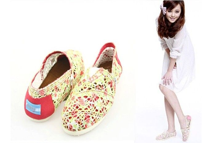 Cheap Toms Shoes Women Wool Fabric Yellow Multi : Men's