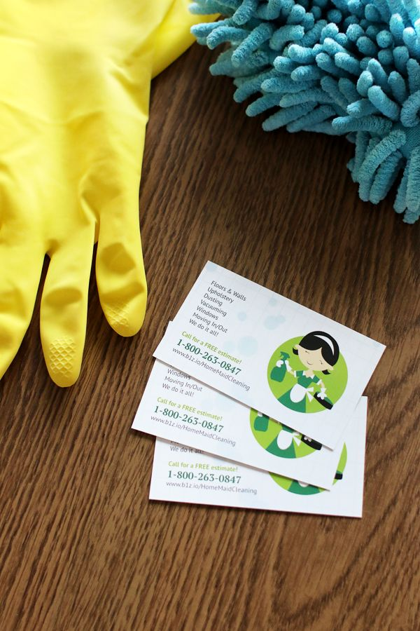 Make a clean design for your home cleaning service promotional tools ...