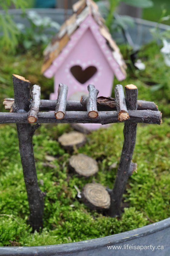 machen sie selbst ihre mini m bel f r einen miniaturgarten 13 selbstmachideen diy bastelideen. Black Bedroom Furniture Sets. Home Design Ideas