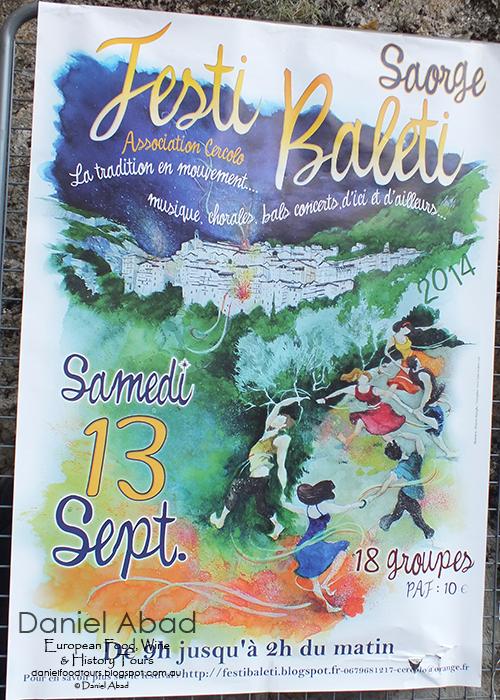 Daniel's European Food, Wine & History Tours: Saorge Baroque Art and Music Festival - Festival Poster