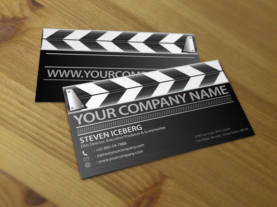 Film Director Business Card 1 By Lemongraphic On Deviantart Business Cards Creative Film Director Photography Business Cards