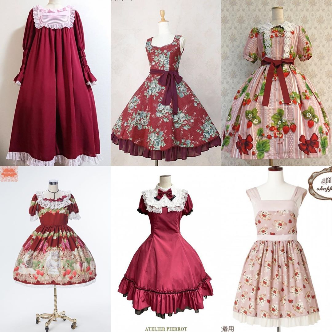 atelier pierrotがinstagramで投稿をシェアしました オススメワンピース レッド ピンク クラシカル ゴシック どちらからも人気のボルドーカラー 春にぴったりの淡いピンクカラーなど ご予約商品もござい fashion summer dresses dresses
