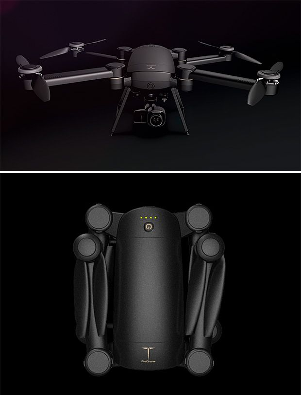 ProDrone Byrd The Quadcopter Features A Fold Up Design Making It Perfectly