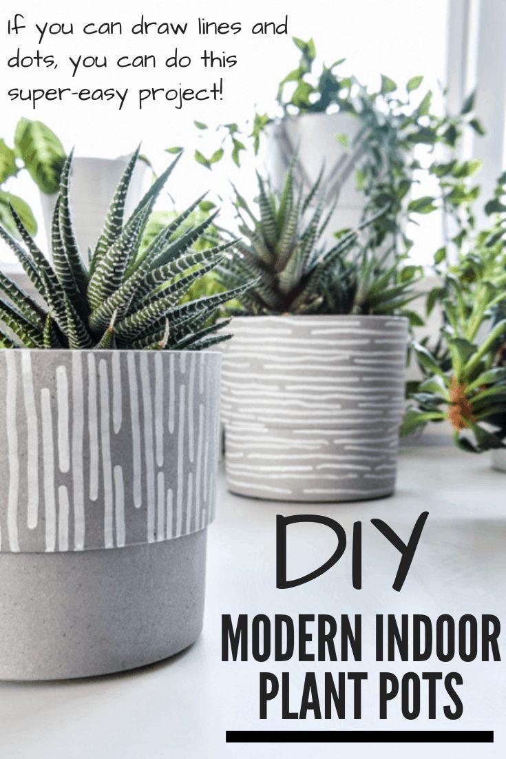 Diy Modern Indoor Plant Pots With Paint Pens Indoor 400 x 300