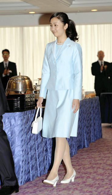 imperialfamilyjapan: Princess Kako attended the Naming and Launching Ceremony of the oceanographic research vessel, Shimonoseki City, June 7, 2015