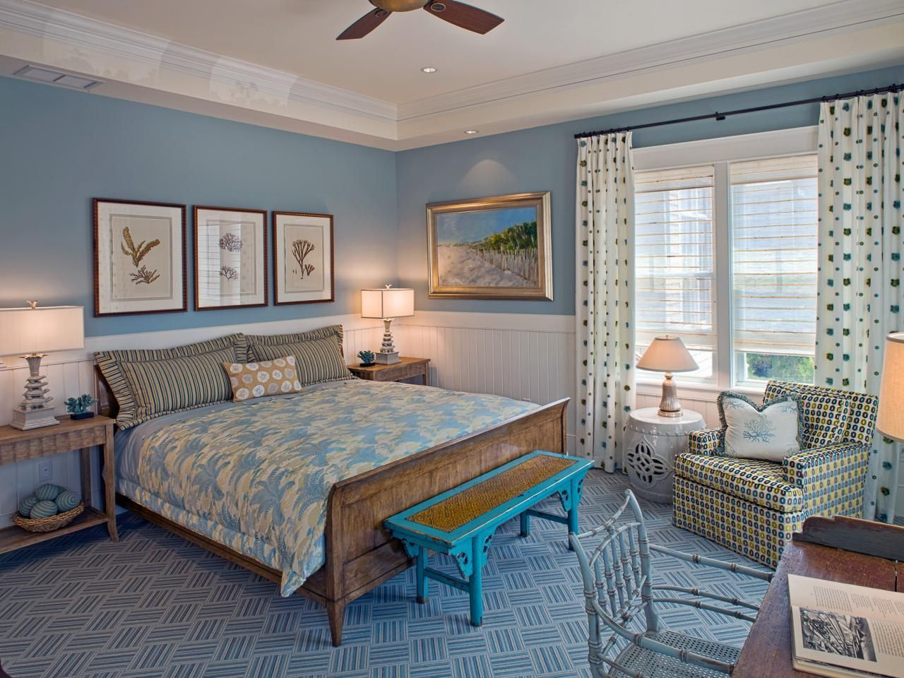 Light blue paint colors for bedrooms - Monochromatic Style In The Bedroom One Color Many Meanings Light Blue