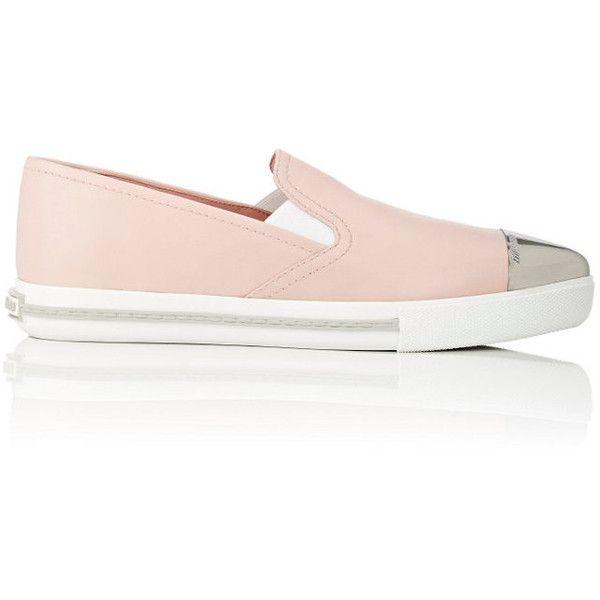 e533acee64 Miu Miu Women's Metal-Toe-Cap Slip-On Sneakers ($319) ❤ liked on ...