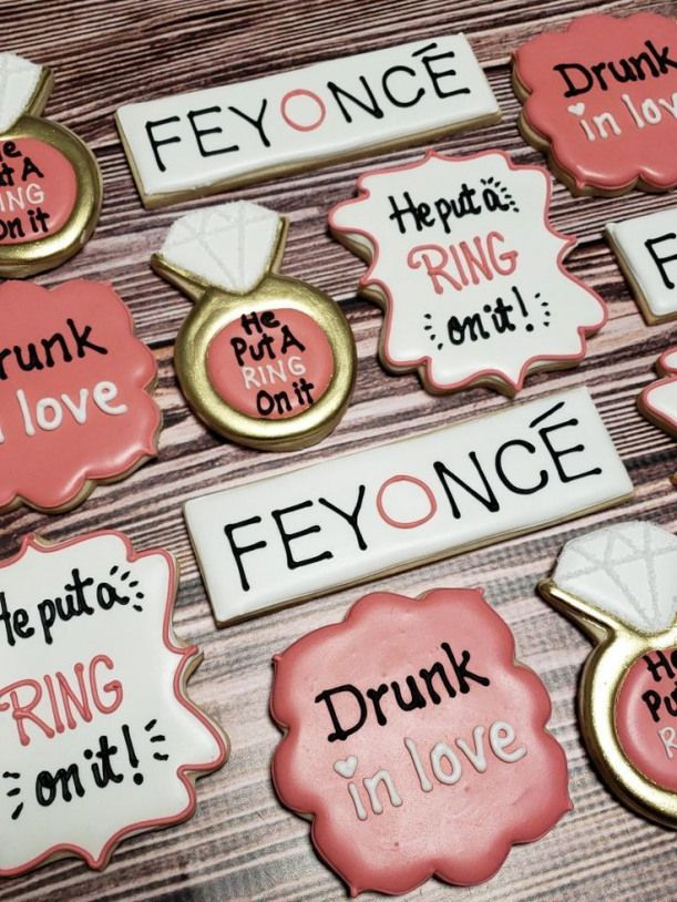 Beyonce inspired bachelorette party cookies.