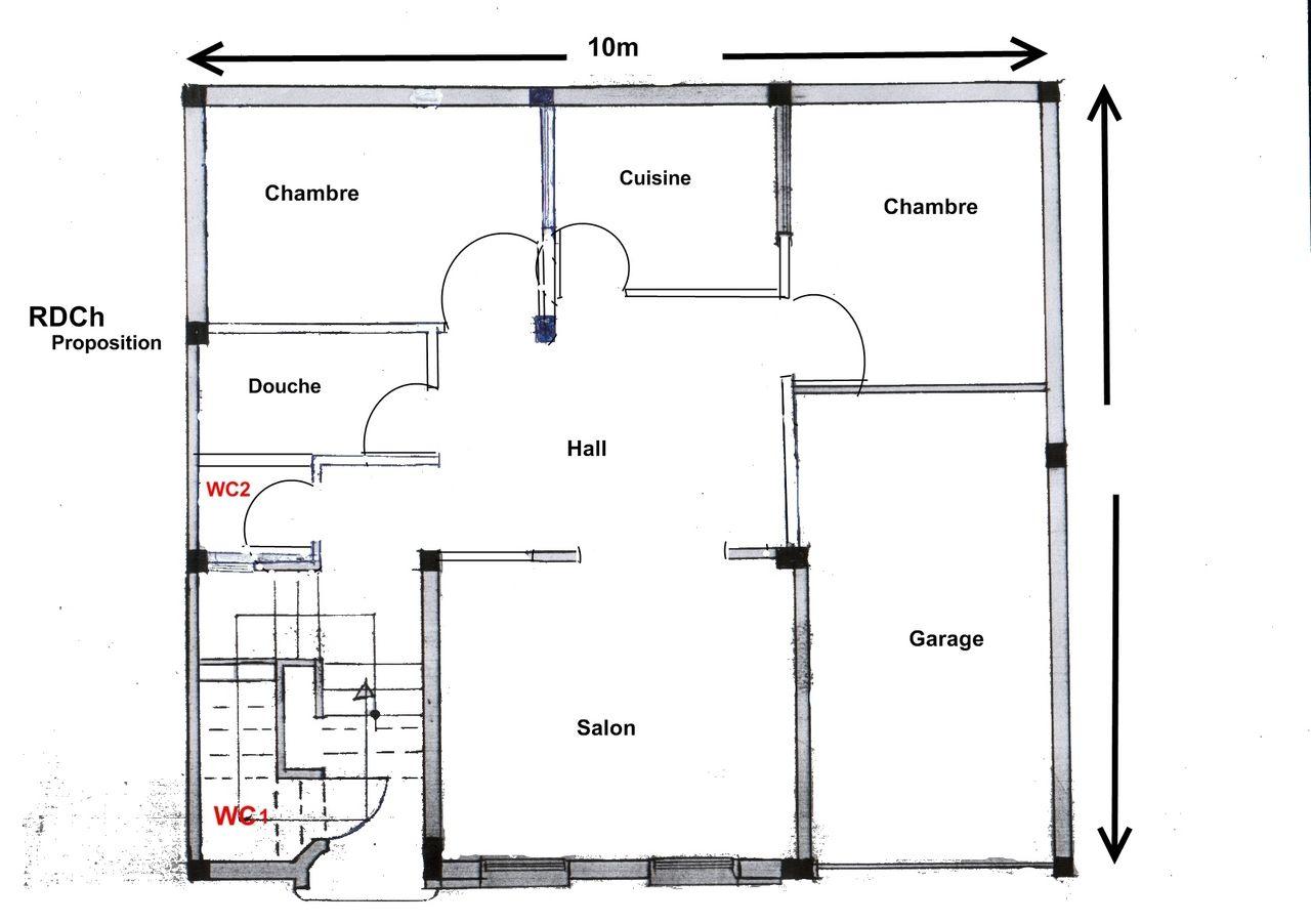 Plan De Maison 100m2 10x10 Recherche Google Plan Maison 100m2