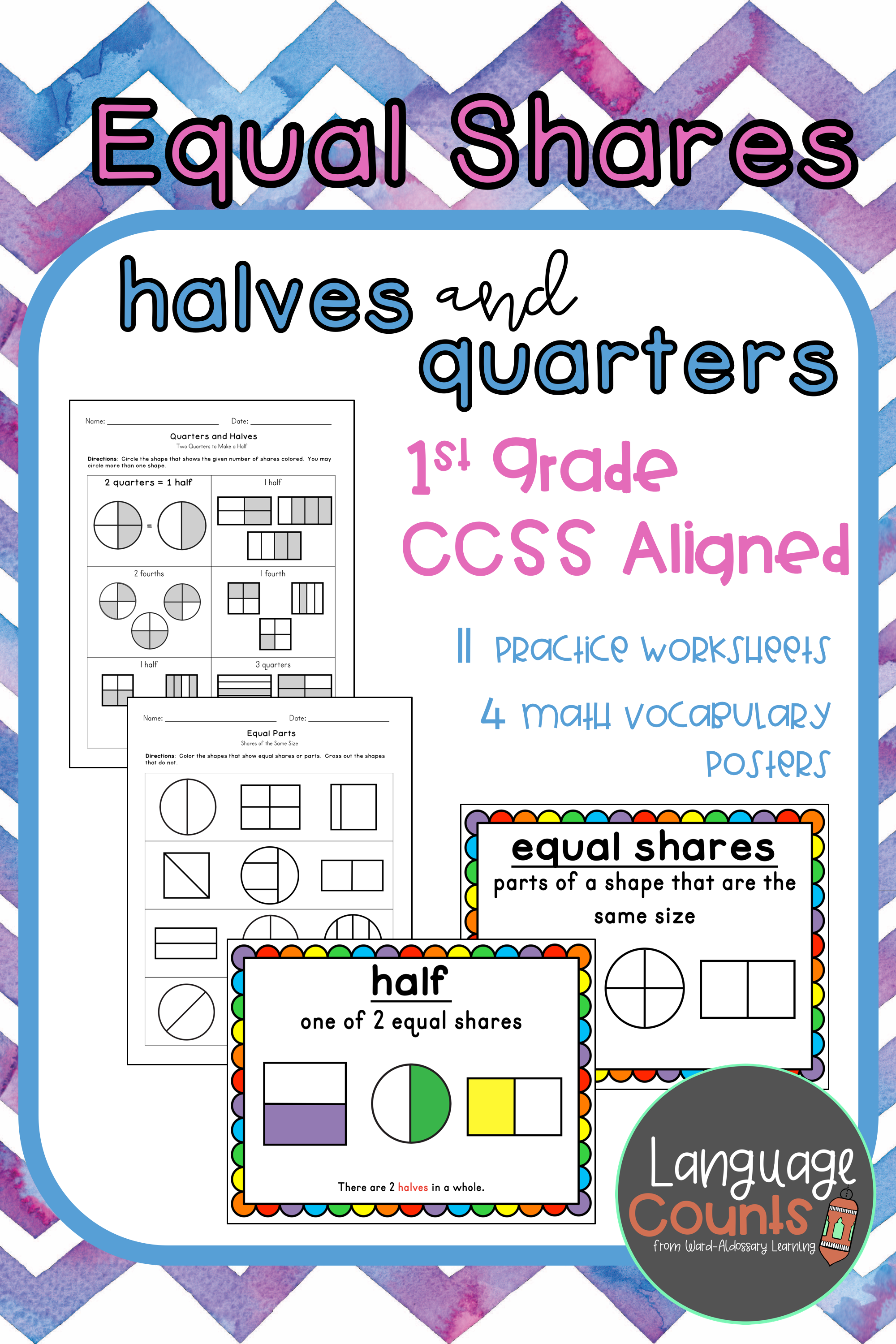 Equal Shares Of Rectangles And Circles Aligns To Envision Topic 15 11 Practice Worksheets And Elementary School Math 1st Grade Worksheets Academic Language [ 3000 x 2000 Pixel ]