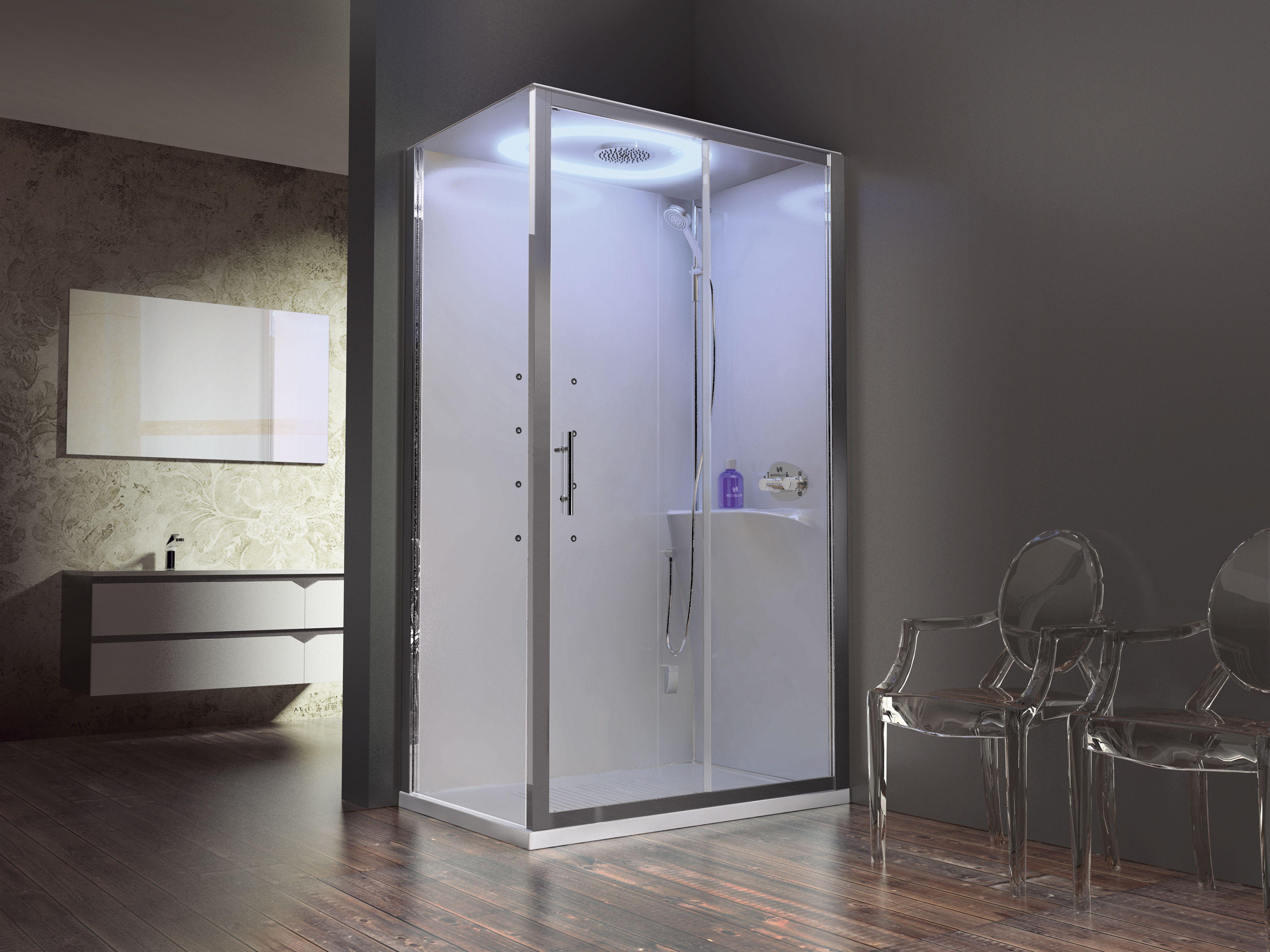Inloopdouche Met Stoomcabine : Novellini eon stoomcabine luxe badkamers in