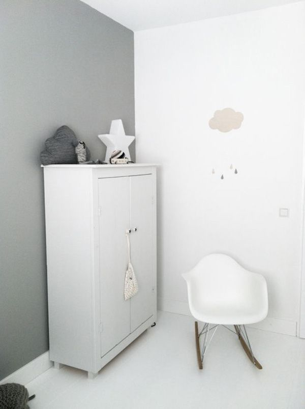 aprilandmayMINI  Nursery at home inside Pinterest Gris, Gris