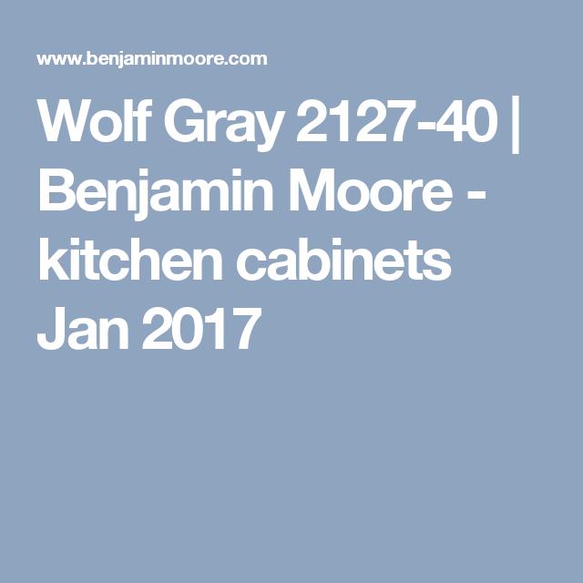 Best Wolf Gray 2127 40 Benjamin Moore Kitchen Cabinets Jan 400 x 300