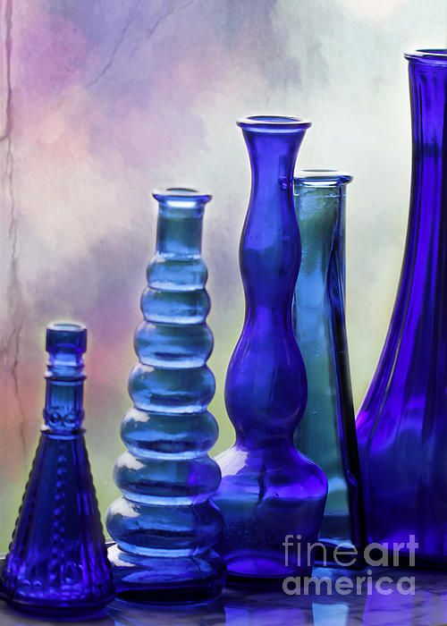 Cobalt Blue Bottles by Sabrina L Ryan