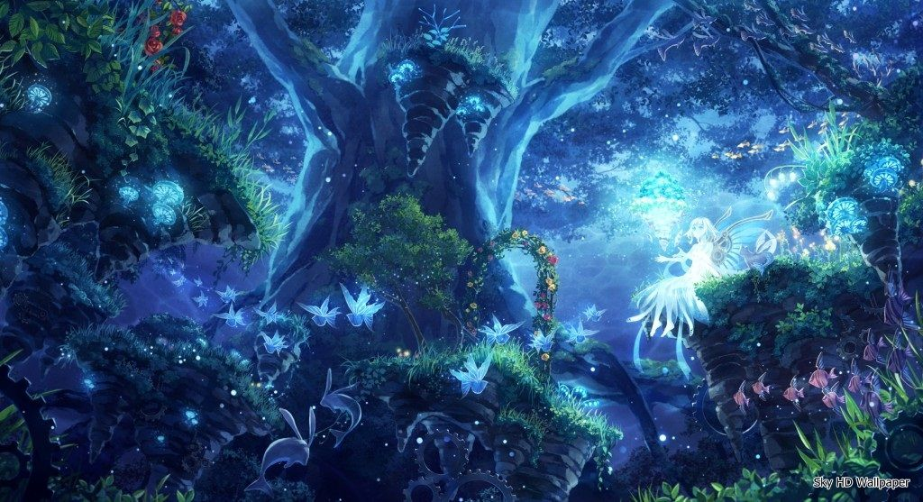 Enchanted Forest Wallpaper Free Google Search Anime Scenery Fantasy Forest Fantasy Landscape
