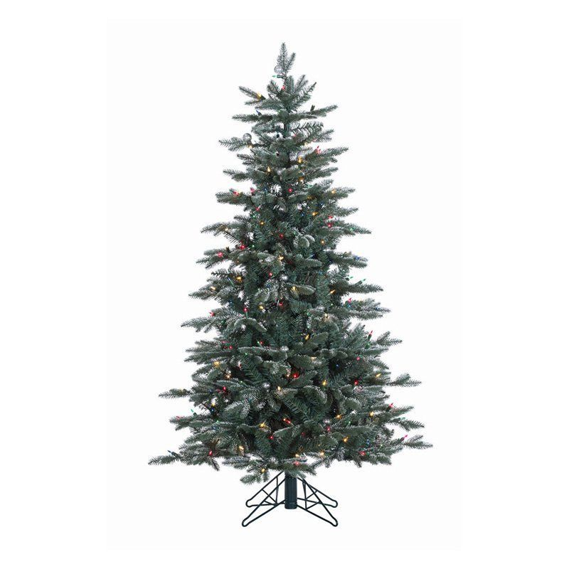 Vickerman Crystal Balsam Frost Slim Pre-lit Christmas Tree - A159751