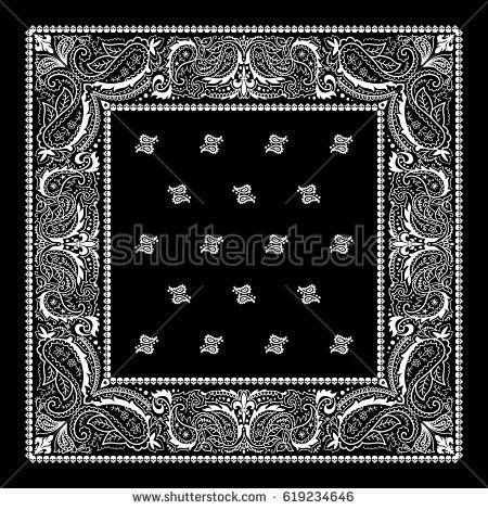 Black Bandanna Print